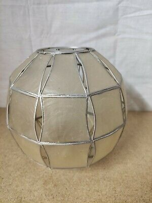 £14.99 • Buy Vintage Retro Pearlescent Capiz Shell Ball Ceiling Light/Lampshade