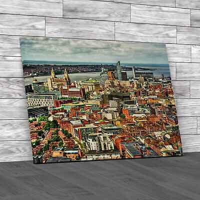 £18.95 • Buy Cityscape Of Liverpool Original Canvas Print Large Picture Wall Art