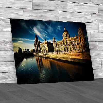 £12.95 • Buy The Three Graces Of Liverpool Original Canvas Print Large Picture Wall Art