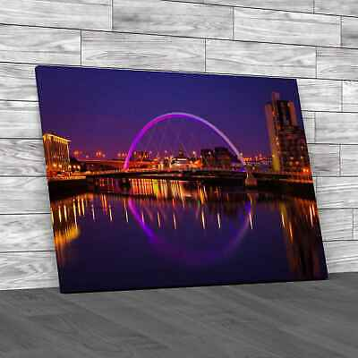 £16.95 • Buy Glasgow Waterside Canvas Print Large Picture Wall Art