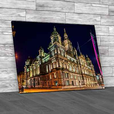 £12.95 • Buy Glasgow City Chambers At Night Canvas Print Large Picture Wall Art