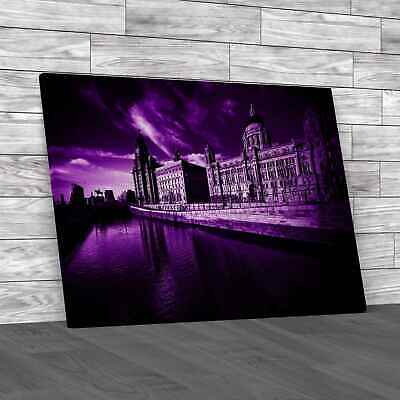 £12.95 • Buy The Three Graces Of Liverpool Purple Canvas Print Large Picture Wall Art