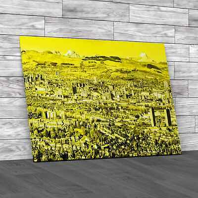 £12.95 • Buy Glasgow City Skyline Yellow Canvas Print Large Picture Wall Art