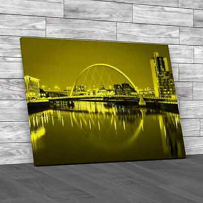 £12.95 • Buy Glasgow Waterside Yellow Canvas Print Large Picture Wall Art