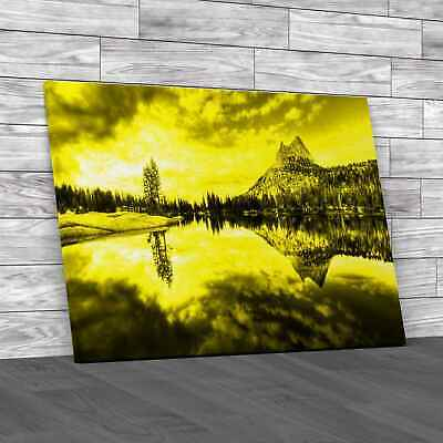 £18.95 • Buy Cathedral Lake Yosemite National Park Yellow Canvas Print Large Picture Wall Art