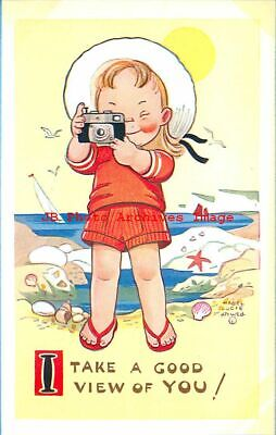 $7.99 • Buy Mabel Lucie Attwell, Valentine No 6043, I Take A Good View Of You, Camera