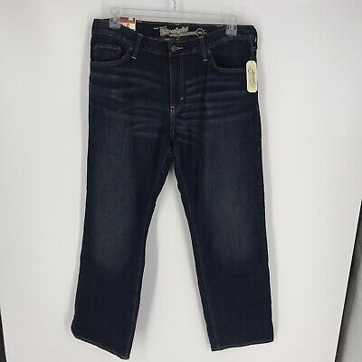 $14.99 • Buy NWT Old Navy Mens Straight Leg Flannel Lined Denim Jeans Size 36 X 32 Good!!