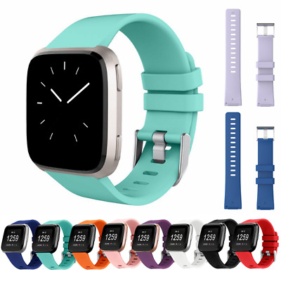 AU6.50 • Buy For Fitbit Versa 2/ 1 / Lite Strap Replacement Silicone Buckle Sport Watch Band