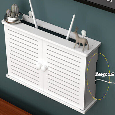 £11.39 • Buy Wifi Router Shelf Storage Box Wall Mounted Cable Wire Hanging Bracket TV CD Box