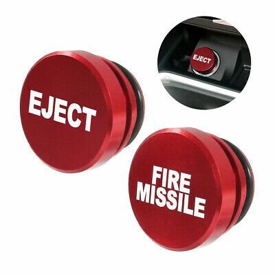 £6.89 • Buy HOT UK Universal Fire Missile/Eject Button Car Lighter Cover Accessories Decor*1
