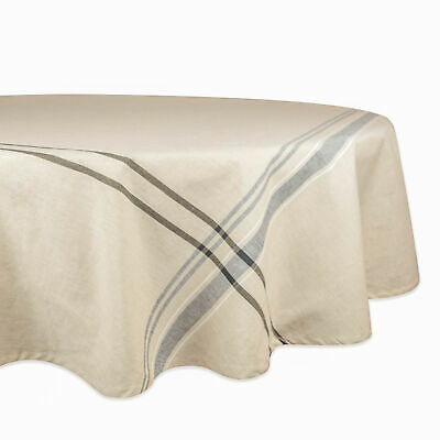 £21.47 • Buy DII Black French Stripe Tablecloth 70 Round