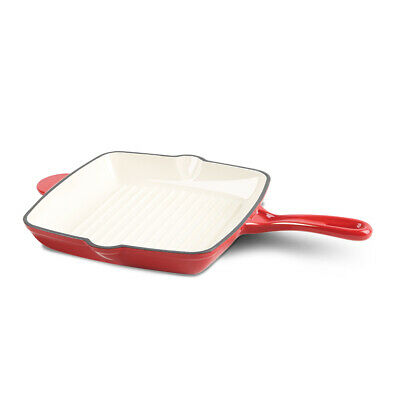 £32.49 • Buy Berlinger Haus Cast Iron Enamel Induction Frying Pan Non Stick Ribbed Grill Pan