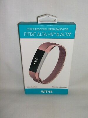 AU31.24 • Buy *NIB* WITHit - Stainless Steel Mesh Band For Fitbit Alta And Alta HR - Rose Gold