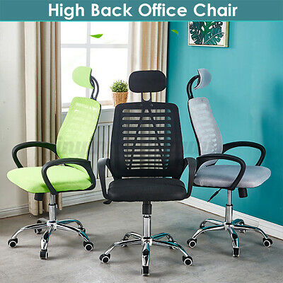 AU71.75 • Buy  Ergonomic Adjustable Computer Gaming Chair Office Mesh Desk Seat Lift Chairs