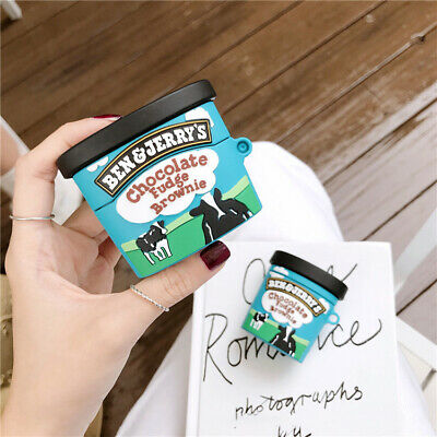 AU12.99 • Buy For Apple Airpods 1 2 Pro Shockproof Soft Silicone Case Cover Funny Ben & Jerry
