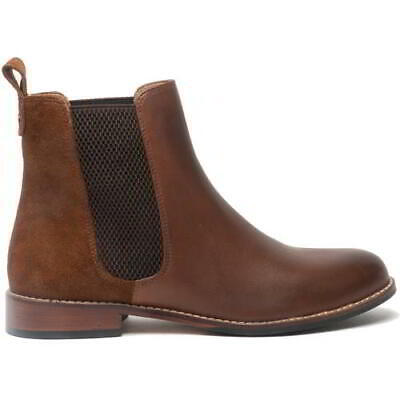 £59.99 • Buy Hush Puppies Chloe Womens Ladies Brown Leather Chelsea Ankle Boots Size UK 4-8