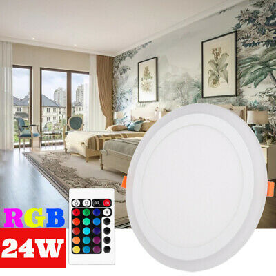 £5.98 • Buy SALE!!White RGB Dual Color Light LED Ceiling Recessed Panel Downlight Spot Lamp
