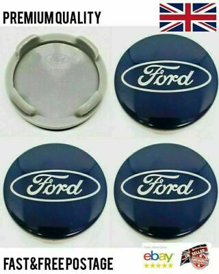 £4.95 • Buy SET Of 4 X BLUE 54mm Alloy Wheel Centre Caps For FORD Focus Mondeo Fiesta Galax
