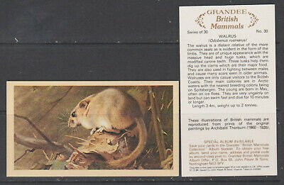 £2.50 • Buy CIGARETTE CARDS Players 1982 British Mammals (Grandee) - Complete Set
