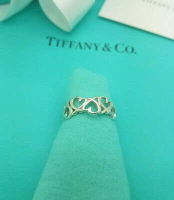 £227.99 • Buy Tiffany & Co Silver Paloma Picasso Loving Heart Ring Size N1/2UK,7US Or 54 1/2EU