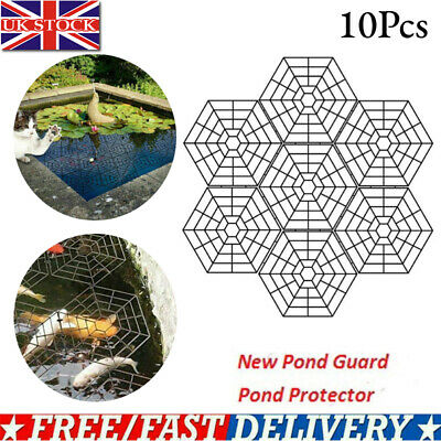 £7.39 • Buy 10X Pond & Fish Guard Protector Plastic Floating Net Rings Protective Covers U K