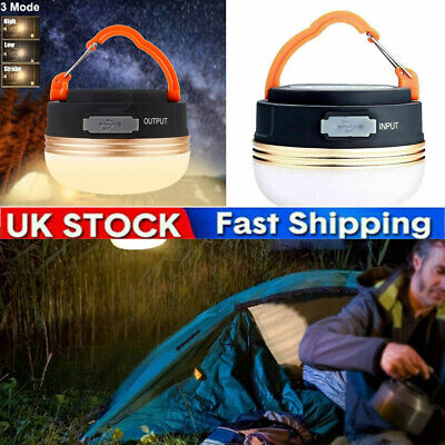 £4.99 • Buy LED Camping Light Lamp Tent Lantern Super Bright Outdoor USB Rechargeable