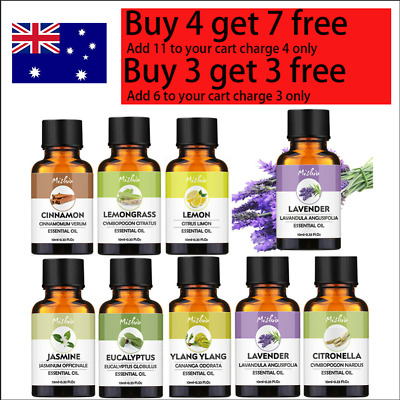 AU9.99 • Buy 10ml Essential Oils 100% Pure & Natural Aromatherapy Diffuser Fragrance Oils