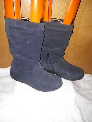 £39 • Buy Fitflop Ladies Boots Blue Mid Top In Excellent Condition Size 7 U.K.