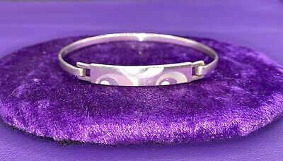 £36 • Buy KIT HEATH Sterling Silver BANGLE/BRACELET With Mother Of Pearl. VGC. Beautiful!