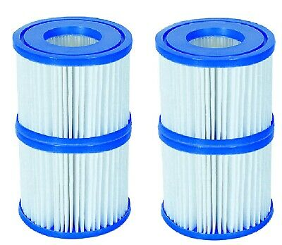 £13.95 • Buy 4 Pack Filter Cartridge Lay Z Lazy Hot Tub Pool Spa Filters For All LayZ Spas