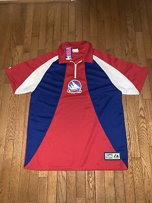 $75 • Buy VERY RARE NWT VINTAGE Majestic NBA San Diego Clippers HWC Warm Up Jersey Size L