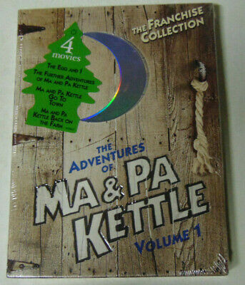 $13.50 • Buy Adventures Of Ma And Pa Kettle Volume 1 DVD 2 Discs 4 Movies SEALED Unplayed