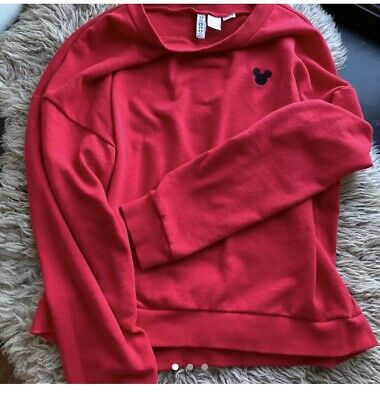 £5 • Buy Red Swearer Pullover Mickey Mouse H&M Long Sleeve