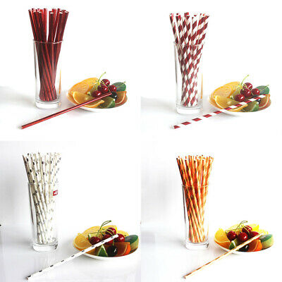 $3.80 • Buy 25pc Paper Straws Stamping Silver Gold Love Stripe Biodegradable Party Supplie M