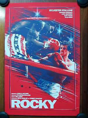 £120 • Buy Rocky - Screen Print Poster - Limited Edition - Art By Yvan Quinet - Nt Mondo