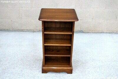 £375 • Buy Ercol Golden Dawn Elm Open Cd Storage Cabinet Display Shelves Lamp Table Stand