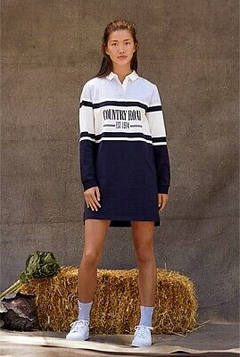 AU49.95 • Buy Country Road Teen Recycled Cotton Logo Rugby Dress
