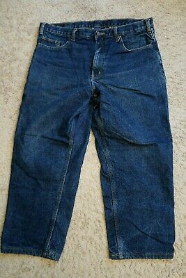 $19.99 • Buy [ Mens FLANNEL LINED Jeans Size 38 X 26 , FULL BLUE Brand, (tag 38/30)