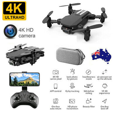 AU46.99 • Buy Foldable WiFi FPV Drone With 4K HD Camera Quadcopter Mini Selfie RC Drone