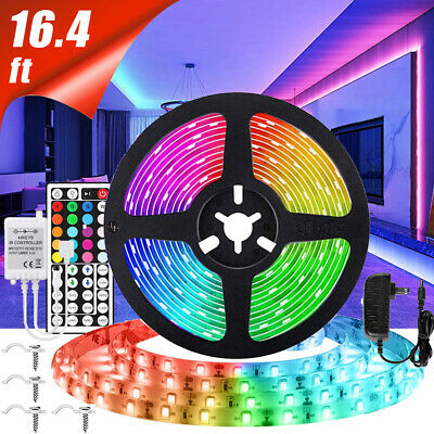 $11.88 • Buy 16FT Flexible 3528 RGB LED SMD Strip Light Remote Fairy Lights Room TV Party Bar