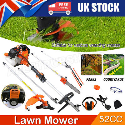 View Details 52cc Multi Function 5 In 1 Garden Tool  Brush Cutter Grass Trimmer Chainsaw UK • 131.99£