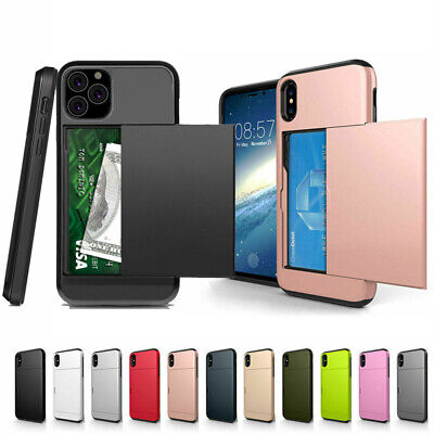 AU8.99 • Buy Hybrid Phone Case With Hidden Credit Card Holder For IPhone 11 12 Pro XS Max 8 7
