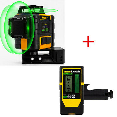 £250 • Buy KAIWEETS 3D Cross Line Laser Level Green With Receiver Self Levelling Vs Dewalt