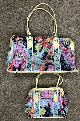 £24.99 • Buy Oilily Luggage Bag Set, Floral, Used, Large And Small Bag, Genuine