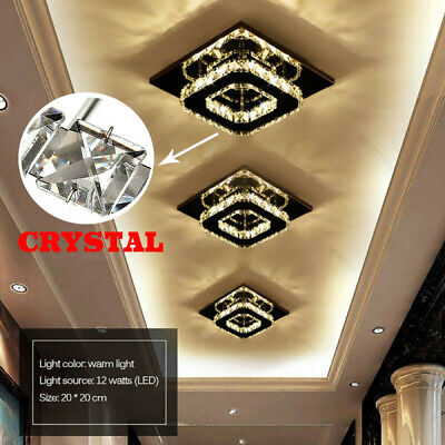 £8.98 • Buy Square LED Crystal Ceiling Down Light Panel Wall Kitchen Bathroom Lamp Cool SALE