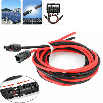 £10.72 • Buy 1 Pair Black + Red Solar Panel Extension Cable Connector Solar Adapter Cable