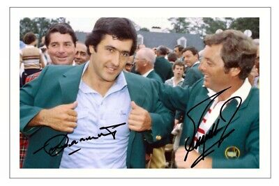 £5.49 • Buy SEVE BALLESTEROS & FUZZY ZOELLER Signed Autograph PHOTO Print GOLF The MASTERS