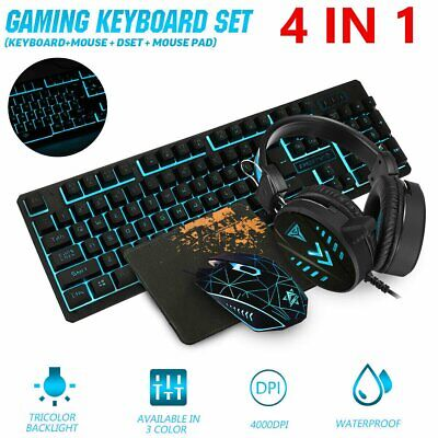 AU35.90 • Buy Gaming Keyboard Mechanical Keyboard And Wired Mouse Headset Four-piece Set AU