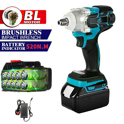 £36.89 • Buy 1/2  Brushless Electric Cordless Impact Wrench + Battery For 18V Makita Battery