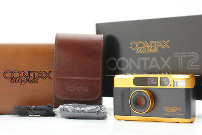 $ CDN2550.54 • Buy [CLA'd Almost Mint In Box] CONTAX T2 60Years Limited Gold Film Camera From JAPAN